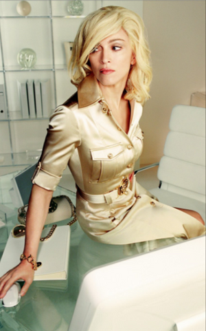 Versace - Editorial, As Seen on Madonna - Gold Button Down 3/4 Sleeve Dress with Open Back - IT 40
