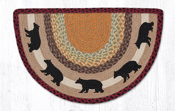 Scp 395 Cabin Bear Slice Rug The Braided Rug Place