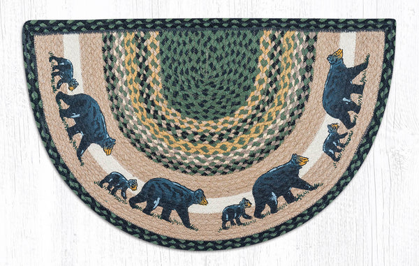 Scp 116 Mama Amp Baby Bear Slice Rug The Braided Rug Place