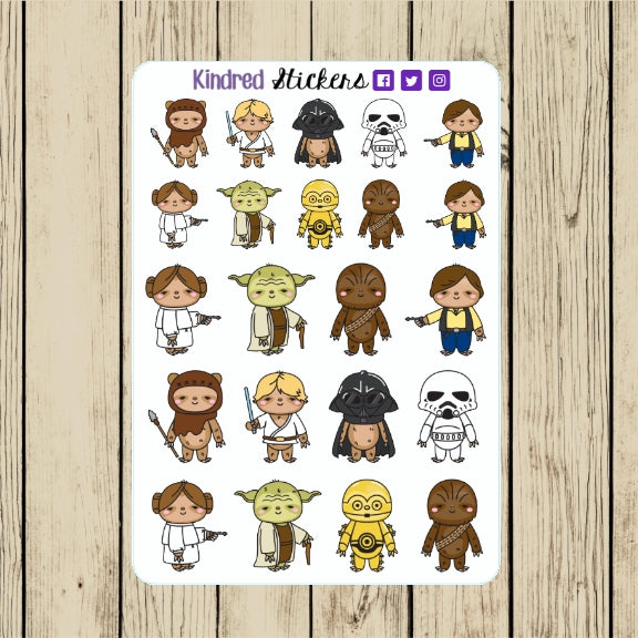 Galactic Adventure Sloth Stickers