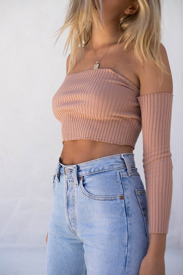 Holly Crop - Blush - Style Addict