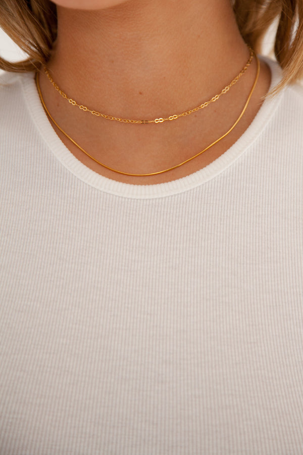 Snake Chain Choker - 14k Gold Plated