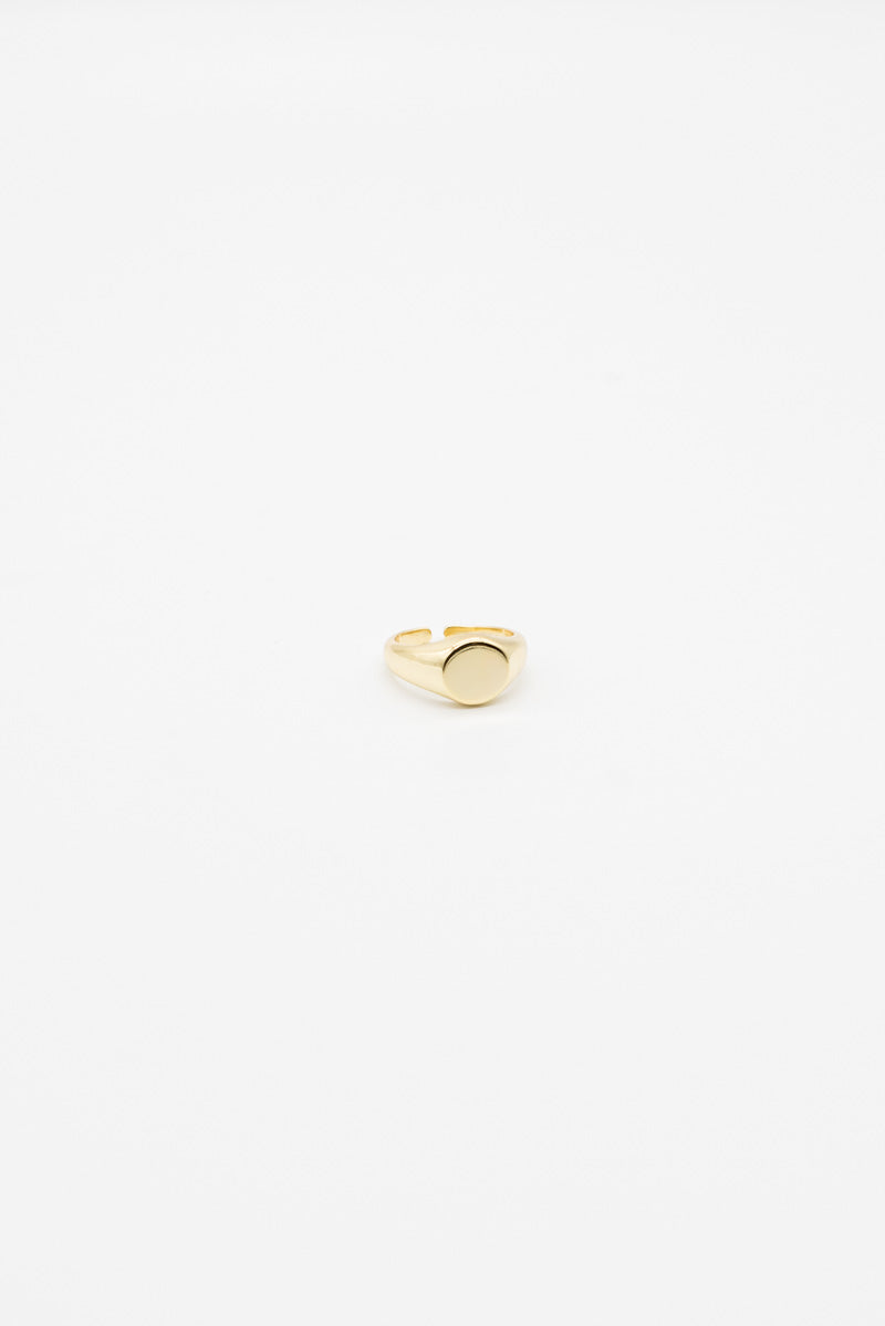 Oblong Ring - 14K Gold Plated