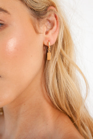 Cross Earrings - Gold Plated