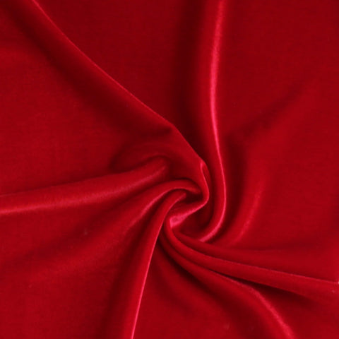 End of BOlt: 2-1/8th yards of Red Fashion Stretch Velvet