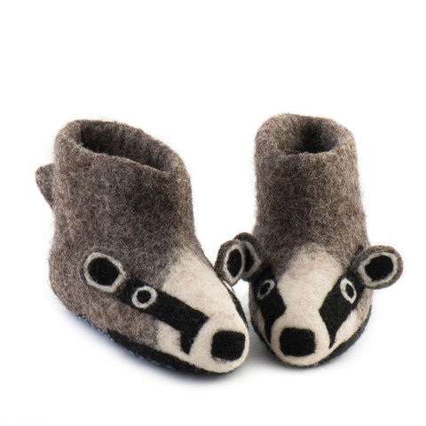 Billie Badger Children Slippers