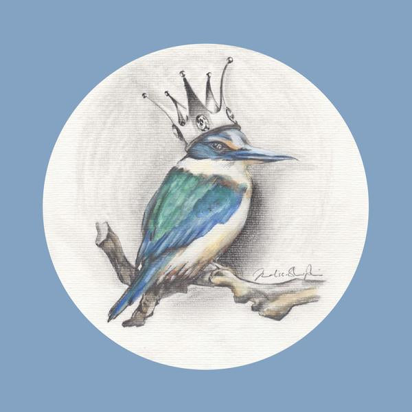 Kingfisher Blue  - Greeting Card - Melissa Sharplin - Design Withdrawals