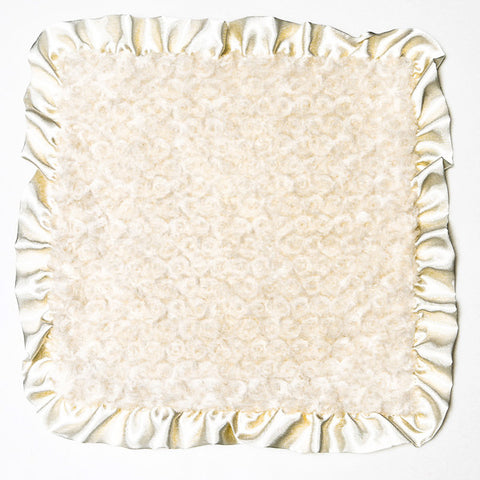Max Daniel Rosebuds and Satin Security Blanket (Ivory)