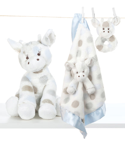 Little Giraffe Plush Bundle - Plush Toy + Rattle + Blanky