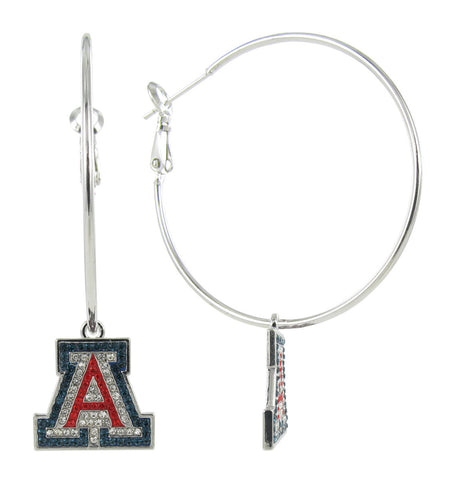 "Crystal Arizona ""A"" Hoop Earrings"