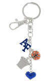 Air Force Academy Basketball Combo Key Chain