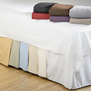 "Clearance Full XL Tailored 18"" Bone Bed Skirt - Bed Linens Etc."