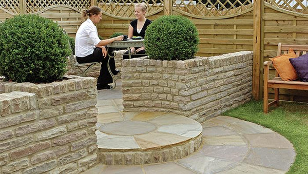 Fairstone Pitch Faced Garden Walling
