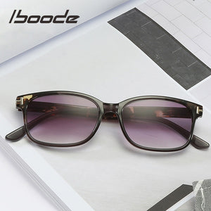 Iboode HD Reading Glasses Gradient Tea/Gray Lens Presbyopic Unisex Diopters + 1.0 1.50 2.5