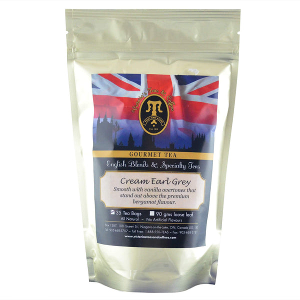 Cream Earl Grey English Blend Tea Bags