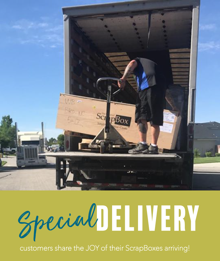 Customer Photos of The Original ScrapBox Crate Delivery