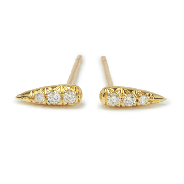 long drop studs with diamonds