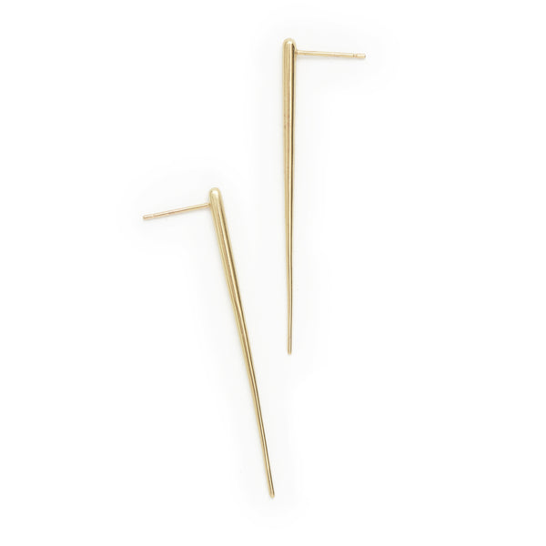 long tapered post earrings