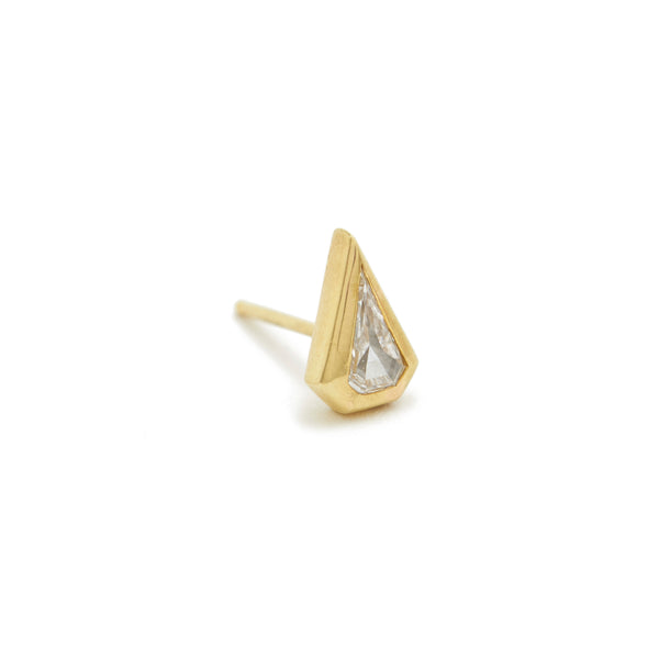 pointy shield diamond essential stud