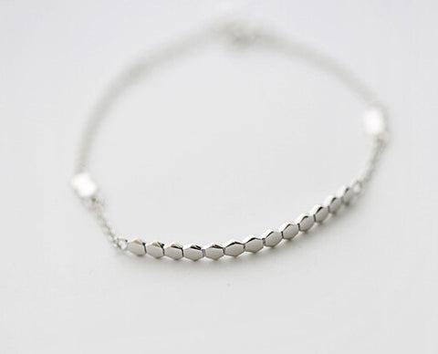 925 sterling silver bracelet (cellular bracelet) character, delicate gift of personality