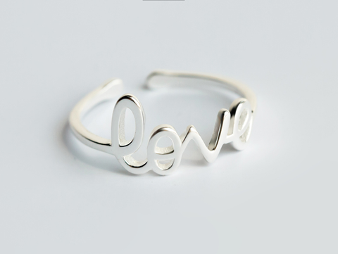 Personality monogram 925 sterling silver ring, a perfect gift