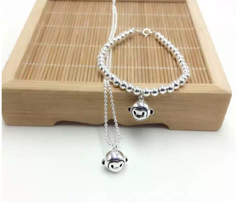 Lovely small monkey 925 Sterling Silver jewelry , perfect gift