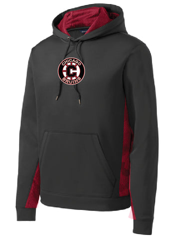 Bruins CamoHex Fleece Colorblock Hooded Pullover- YOUTH sizes