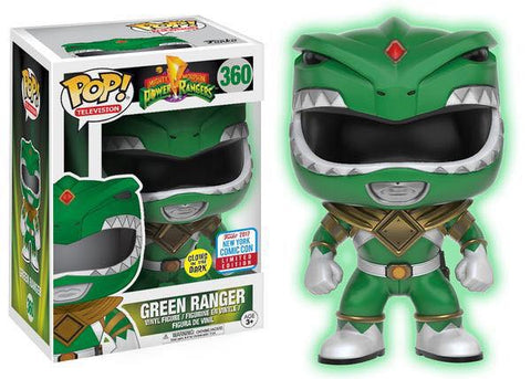 Funko pop power ranger nycc 2017 exclusive glow in the dark green ranger