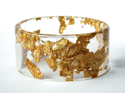 SALE Gold Resin Cuff Bangle