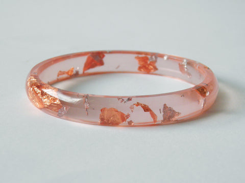 SAMPLE SALE: Pale Peach Stacker Bangle / LARGE SIZE