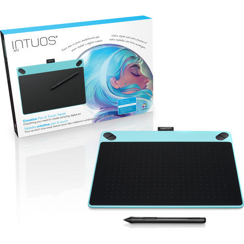 Wacom Intuos Art Pen & Touch Medium Tablet (Mint Blue) CTH690AB - CoolGraphicStuff.com