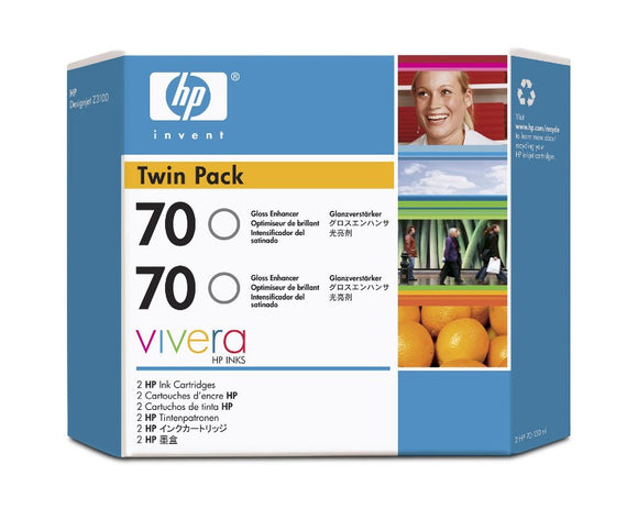 HP 70 CB350A Gloss Enhancer Twin Pack - 2 x C9459A - CoolGraphicStuff.com