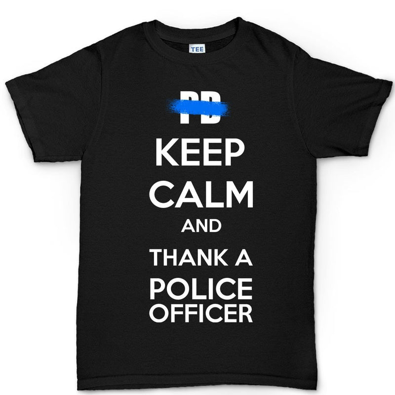 Men's Keep Calm and Thank A Police Officer T-shirt