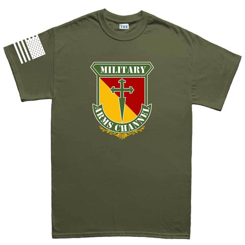 Military Arms Channel Logo Mens T-shirt