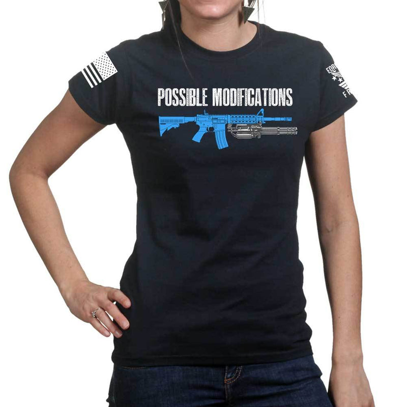 Possible Modifications Gatling Gun Ladies T-shirt