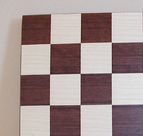 "14"" Dark Rosewood Veneer Board - ChessWarehouse - 1"