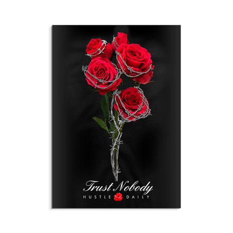 Retro Bred 4 Barbed Roses Poster