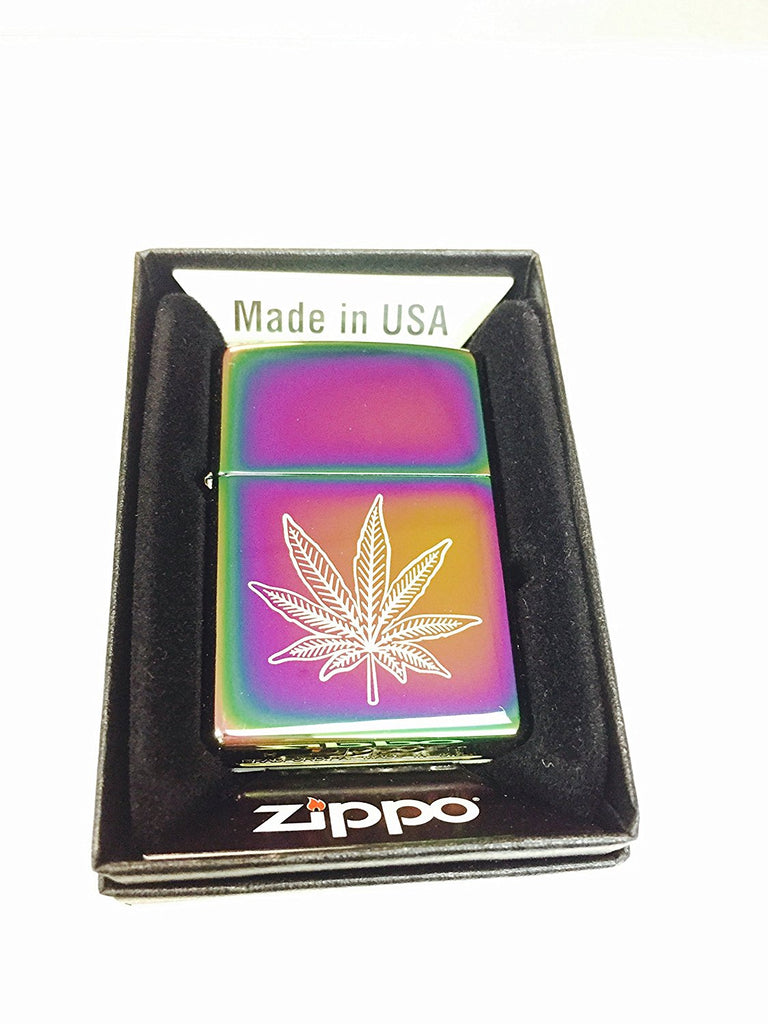 Zippo Custom Lighter - Weed Pot Leaf Marijuana Spectrum