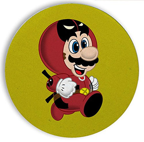Ceramic Stone Coaster Coasters Set of Four - 'Deadplumber' Hero & Game Parody