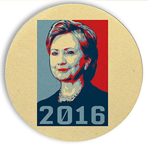 Ceramic Stone Coaster Coasters Set of Four - '2016' Hillary Clinton Presidential Candidate
