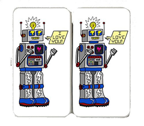 '80's Love Robot' Funny Cute Vintage Robot w/ Feelings - Taiga Hinge Wallet Clutch