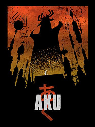 'Akaiju' Cartoon & Monster Parody 18x24 - Vinyl Print Poster