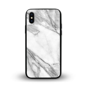 Glossy Graphic Glass Case - White Marble (CMC911)