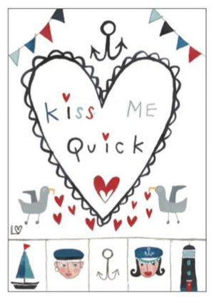 Greetings Cards | Kiss Me Quick - Kiss Me Quick | Lucy Loveheart