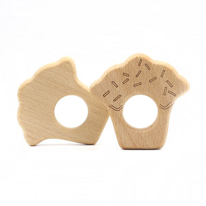 Wooden Toy & Teether - Cupcake
