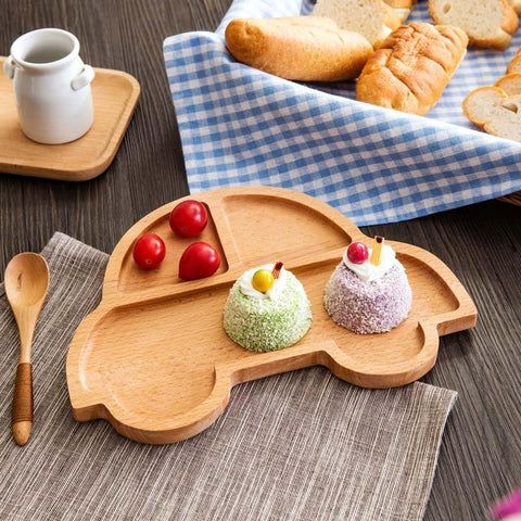 Wooden Snack Plate - Car