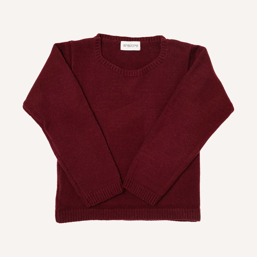 Bordeaux Crew Neck Jumper