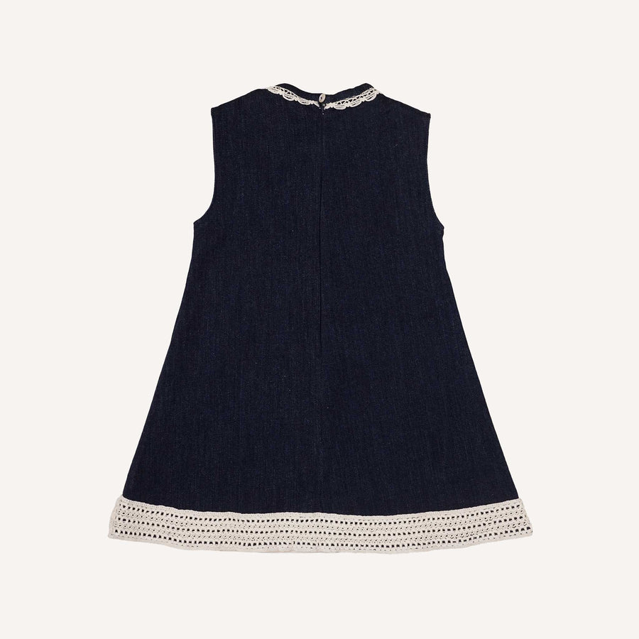 Navy Denim Shift Dress