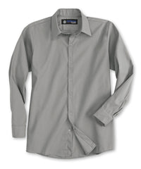 Grey UniWeave® Pocketless Food Service Shirts Shown in UniFirst Uniform Rental Service Catalog