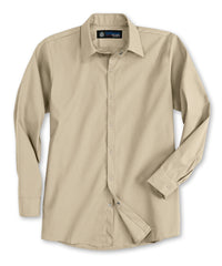 Tan UniWeave® Pocketless Food Service Shirts Shown in UniFirst Uniform Rental Service Catalog